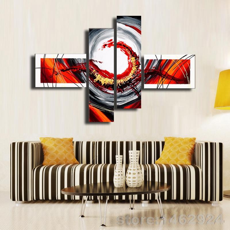 paredes pintadas a mano unidades modernas pinturas al leo abstracta en la lona