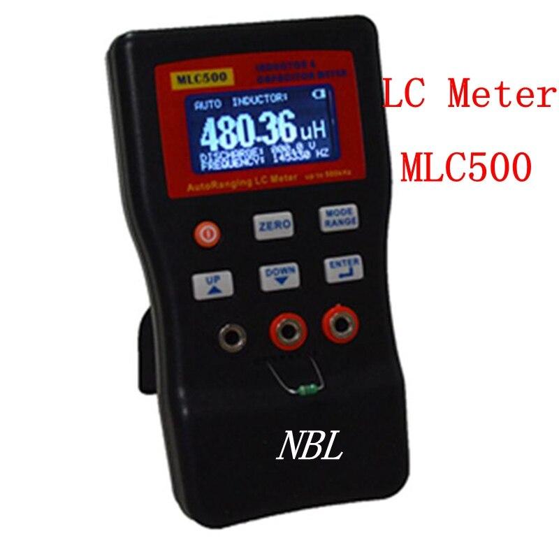 Professionnel LCD numérique LC mètre 500 kHz LC/RC capacité Inductance mètre 100 H 100mF 1% pont numérique avec Clip SMD MLC500