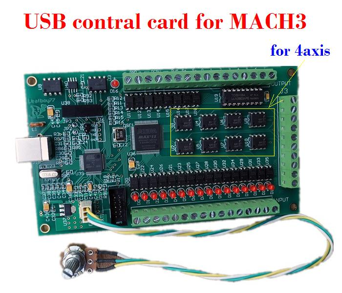 4 Axis USB Mach3 motion control card, CNC controller card Four axis breakout interface board for CNC Router 4 axis usb mach3 motion control card four axis breakout interface board for cnc machine