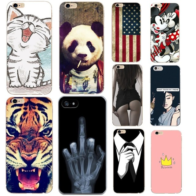 For Funda iphone 8 8Plus 6s 6 7 Case Cool Animal Tiger Cat Skull Women  Silicon 368c355a2c