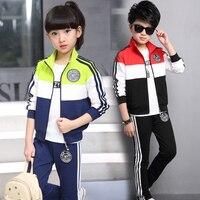 Autumn Girls Clothing Sets Cotton Girl Sport Suit Teenage Boys Clothes School Children Clothing Set 3