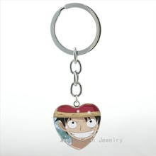 One Piece Anime Keychain Heart Pendant