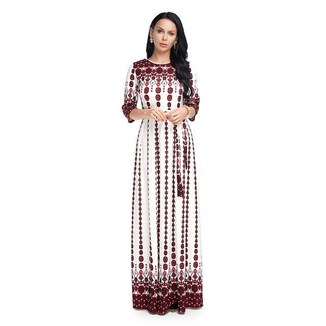 b5b4755958 Moda 2018 Lato Eleganckie Kobiety Sukienka W Stylu Vintage Floral Długie  Maxi Sukienki Casual Beach Party