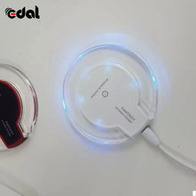 Fantasy Crystal QI Wireless Charger Charging Pad High Efficiency Blue Light For Iphone Mobile Phone