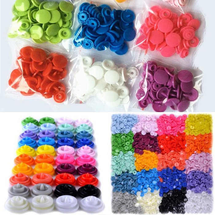 NEW 4in one Snap Buttons T8 14mm Fasteners Press Stud plastic resin for handmade Gift Box Scrapbook Craft DIY Sewing Accesso Wh