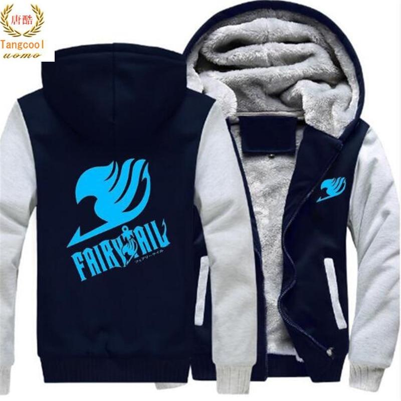 2019 Men Women Anime Fairy Tail Logo CLuminous Jacket Sweatshirts Thicken Hoodie Coat US size5XL