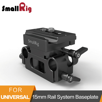 SmallRig Universal 15mm Rail Support System Baseplate For Sony/Panasonic/Canon/Fujifilm/Nikon Camera Quick Release Plate-2272