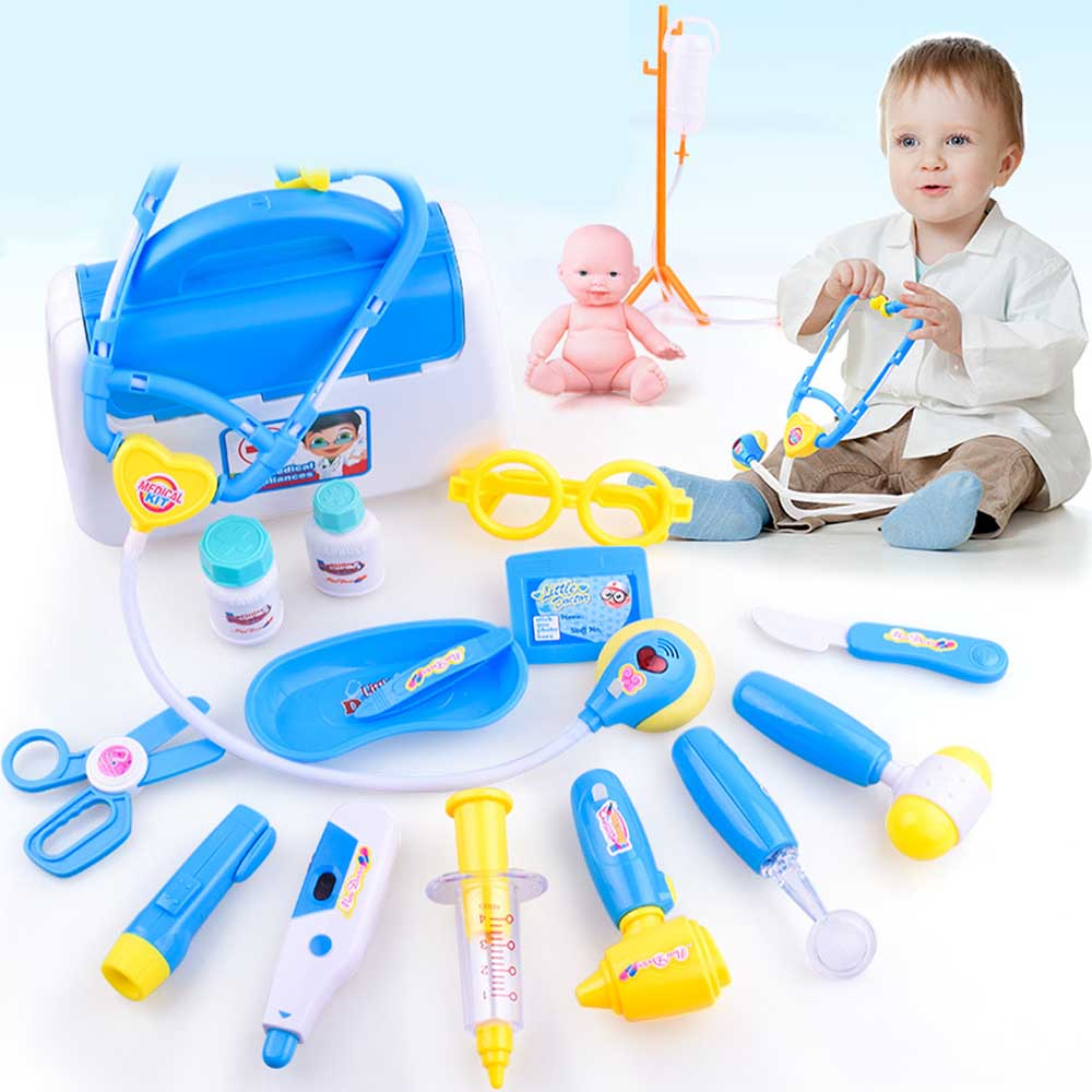 Kids Role Play Medical Kit Doctor Toys For Children Stethoscope Injections toy ...