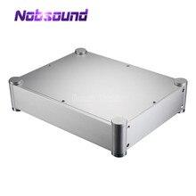 Nobsound caixa pré amplificadora case amp de fone de ouvido dac diy chassi caixa de alumínio prata
