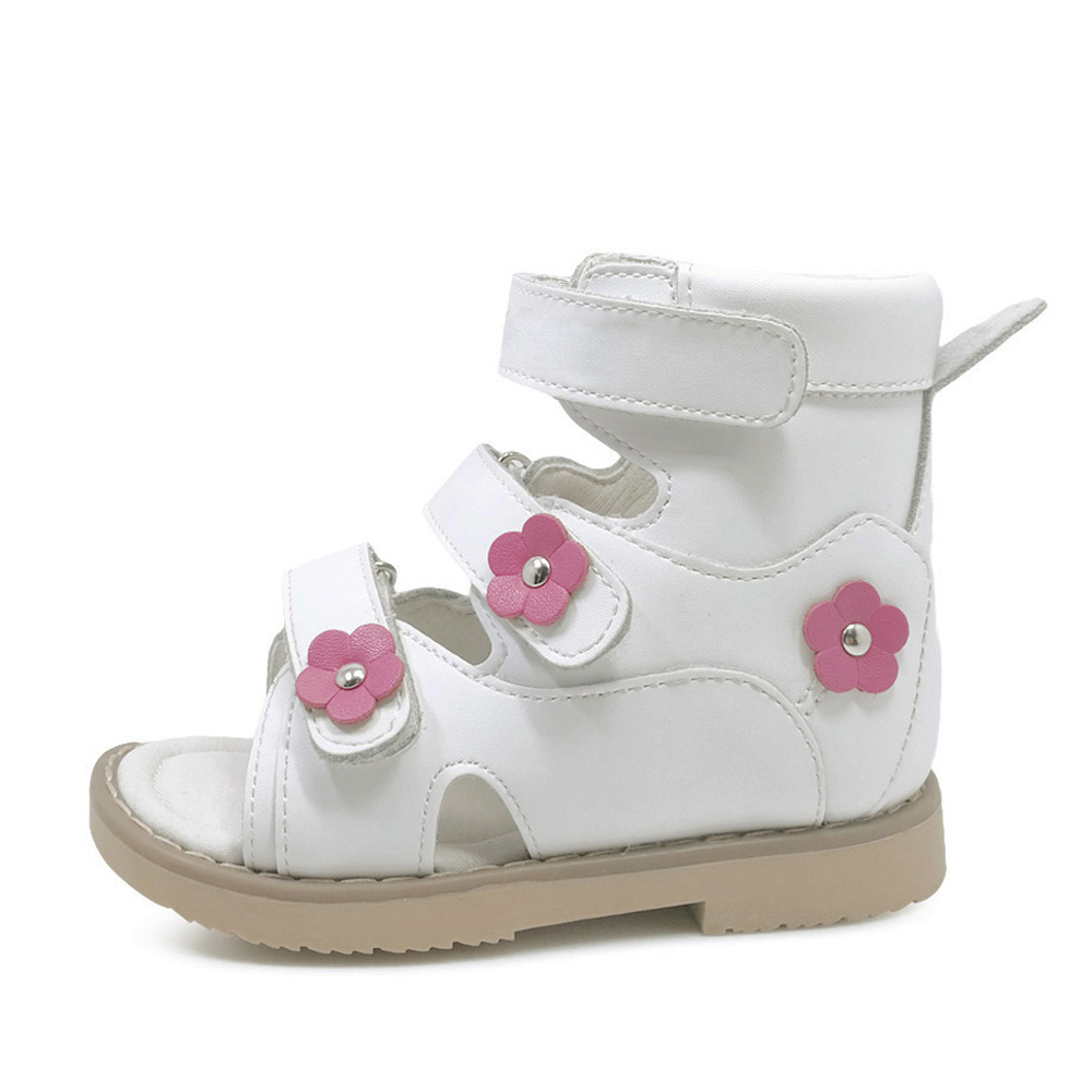2018 flower leather orthopedic shoes for children sandals baby casual sandals toddler girls sandals Orthopedic footwear for kids new 1 pair flower genuine leather sandals orthopedic sandals children shoes inner 13 3 20 6cm super quality kid girl sandals