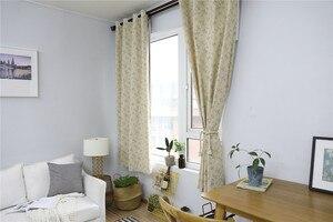 Image 5 - Moderne Platteland Kleine Bloem Gedrukt Verduisteringsgordijn Voor Woonkamer Slaapkamer Window Behandeling Gordijnen Effen Woondecoratie