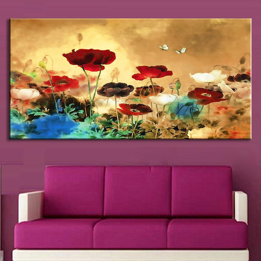 1pcs set huge picture living room wall art chinese style for Wall art paintings for living room
