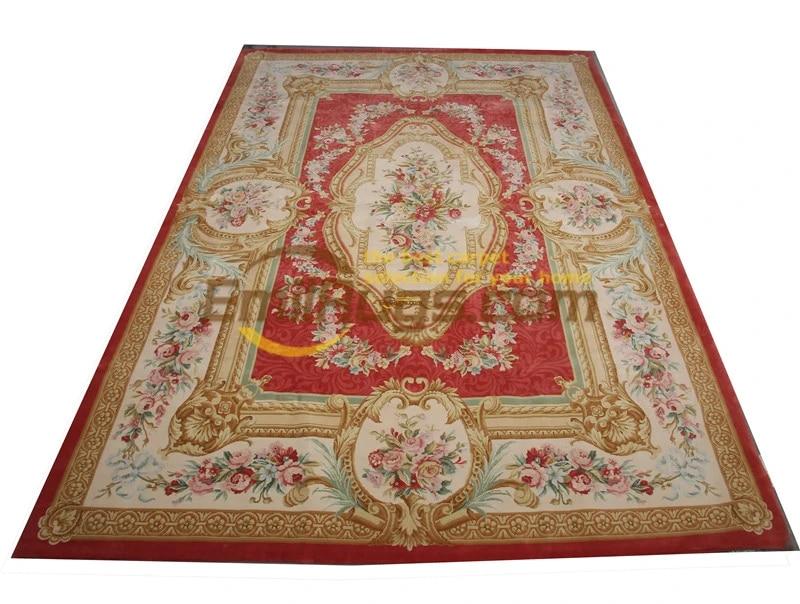 magnifique tapis d inspiration savonnerie traditionnelle fait a la main decoration en laine et soie pour salon antique