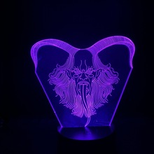 3d Lamp Evil Spirit Color Changing Led Night Light Touch Sensor 3D Optical Decorative Dropshipp Gift for Kids Bedside Hoom