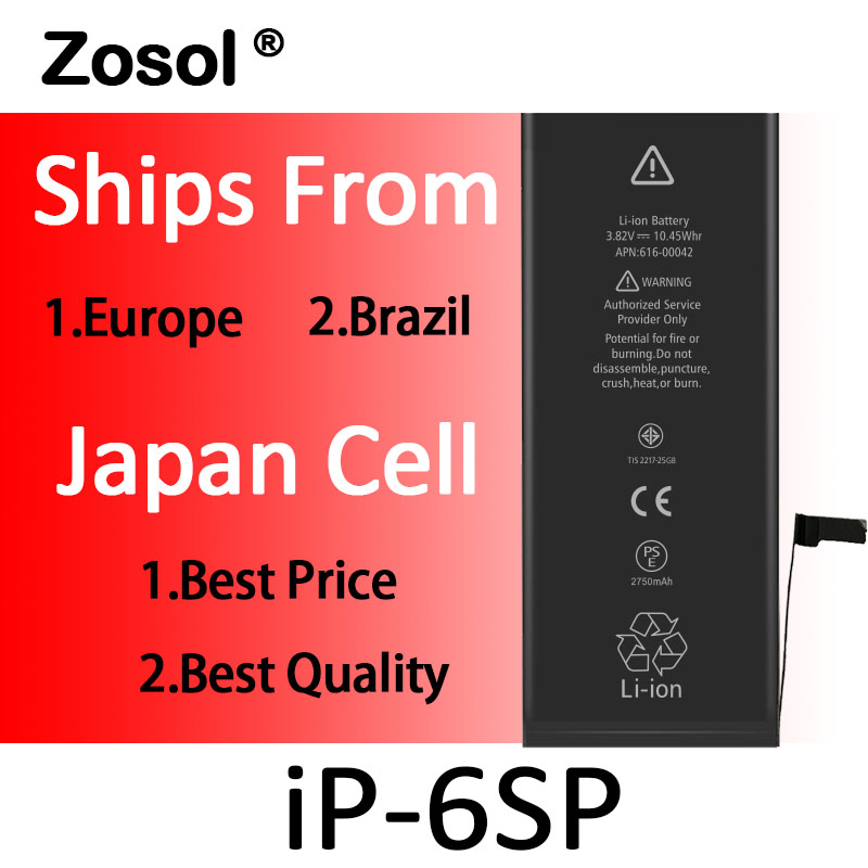 10pcs lot Origin Japan Cell Battery For iPhone 6s plus iPhone6sp Replacement Batterie Internal Bateria For