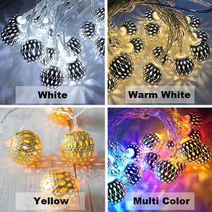 Image 2 - 10M Ball LED Christmas Garland Lights String Bedroom Fairy Lights Decoration For Wedding Home Holiday Lighting Party Light Chain