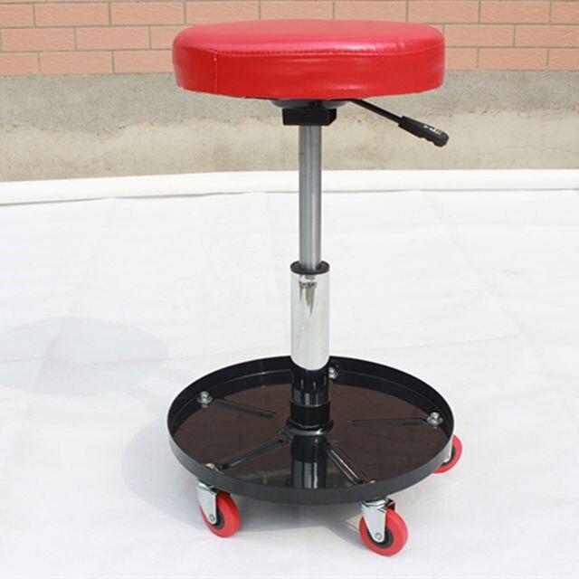 Height Adjustable Repair Car Stool Motor Repair Work Stool Hydraulic  Creeper Seat With Tool Shelf
