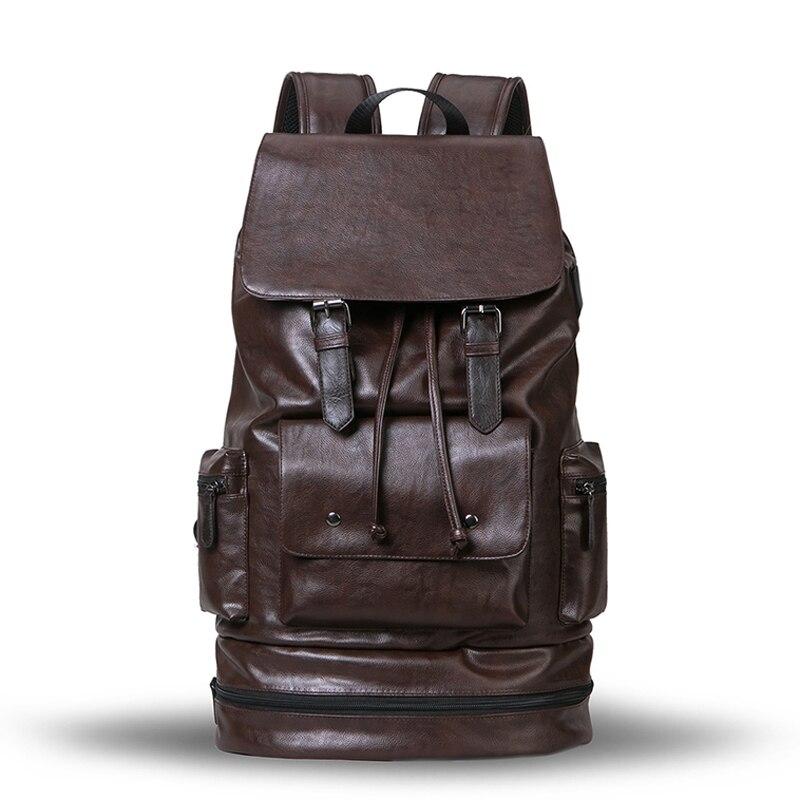 BAILILAOREN sacs à dos pour hommes sac de voyage grande capacité sac en cuir souple en plein air décontracté mode tendance sac pour hommes-in Sacs à dos from Baggages et sacs    1