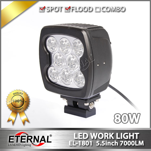 2pcs 80W work light excavator tractor agriculture vehicles 4x4 off road wrangler ATV UTV RV powersports led working
