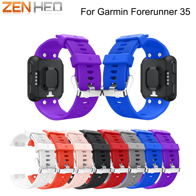 ZENHEO Colorful Silicone Strap Replaceable Watch band Wrist strap wristband bracelet for Garmin Forerunner 35 smart Watch band zenheo watch band for garmin vivofit 3 soft silicone replacement wrist watch band strap accessory wristbands for garmin vivofit3