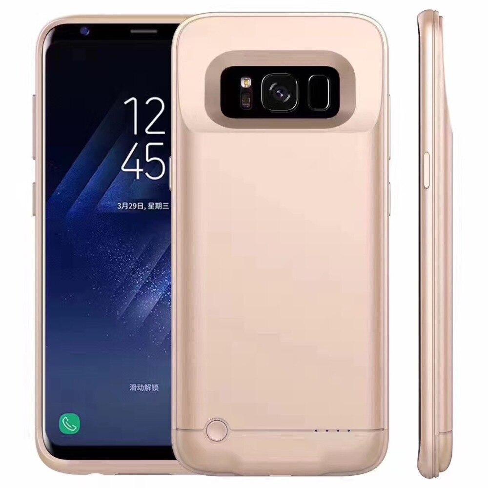 Pour Samsung galaxy S8 S8 Plus 5200 mah Batterie Cas Banque D'alimentation Rechargeable De Sauvegarde Couverture Chargeur de Batterie Externe