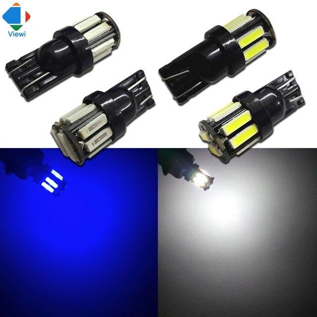 10x t10 w5w led lamp lamp smd 7020 10 leds dc 12 volt auto licht auto