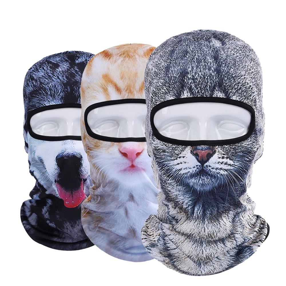 New 3D Animal Dog Cat Balaclava Cap Halloween Hats
