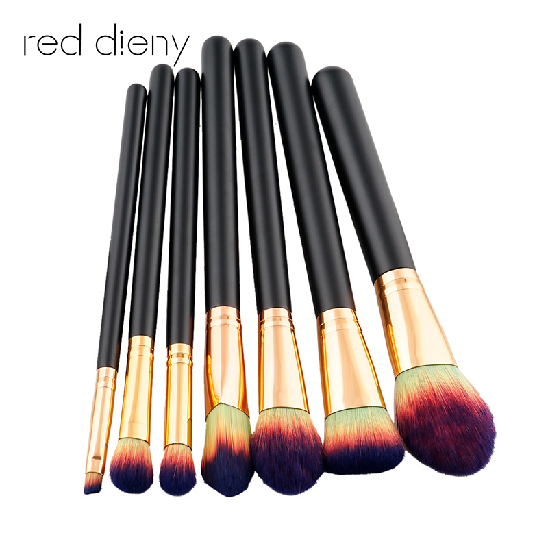 7 pcs Makeup brush set High Quality Soft Gradient Synthetic Hair and Nature BristlesProfessional Makeup Artist Brush Tool Kit