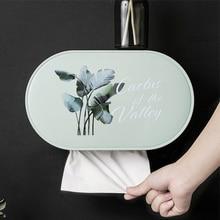 Bathroom Tissue Box Toilet Paper Shelf Punch-Free Waterproof Roll Tube Creative Tray Holder D30