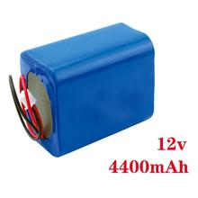 Portable dc li-ion Rechargeable Battery 12v 4400mah Pack for LED Strips,CCTV Camera