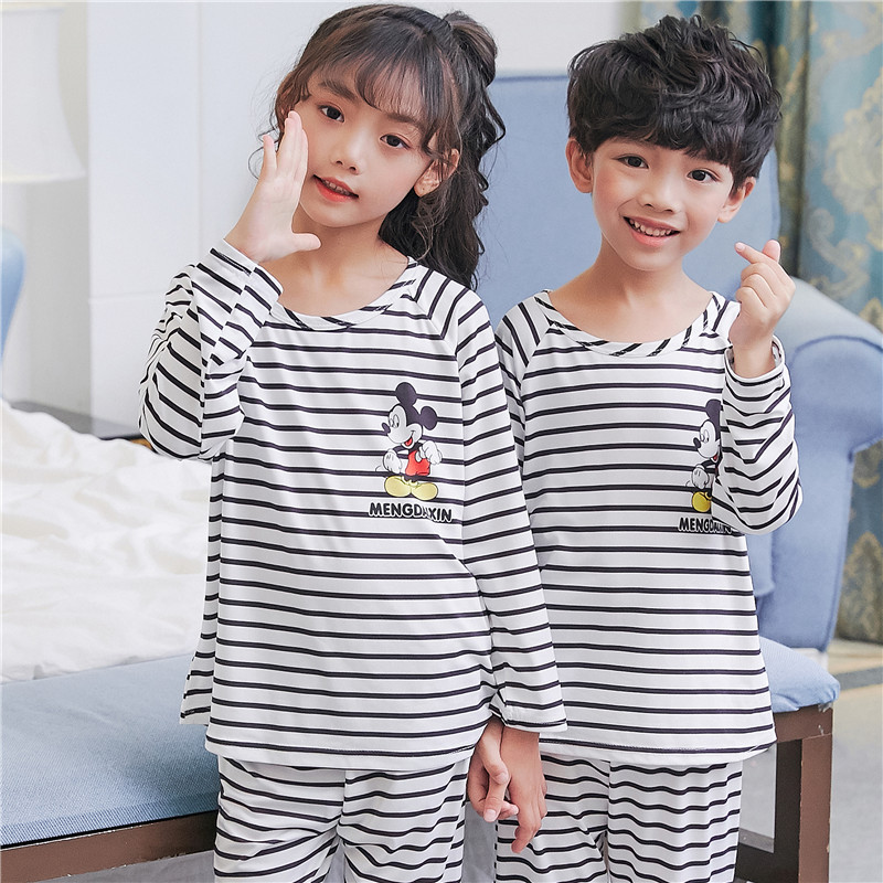 Children Pajamas 2018 new kid's nightwear boys long sleeved pyjamas kids Spring and autumn home clothing for girls free shipping