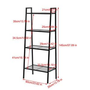 Image 3 - 4 ชั้นชั้นวางหนังสือ Rack Storage Organization Book Storage Rack ผู้ถือเก็บตกแต่งบ้าน