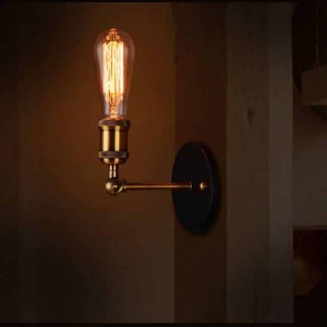 WOXOYOZO Modern Industrial Metal Wall Lamp Edison Bracket Wall Mounted Light  For Restaurant Living Room Corridor