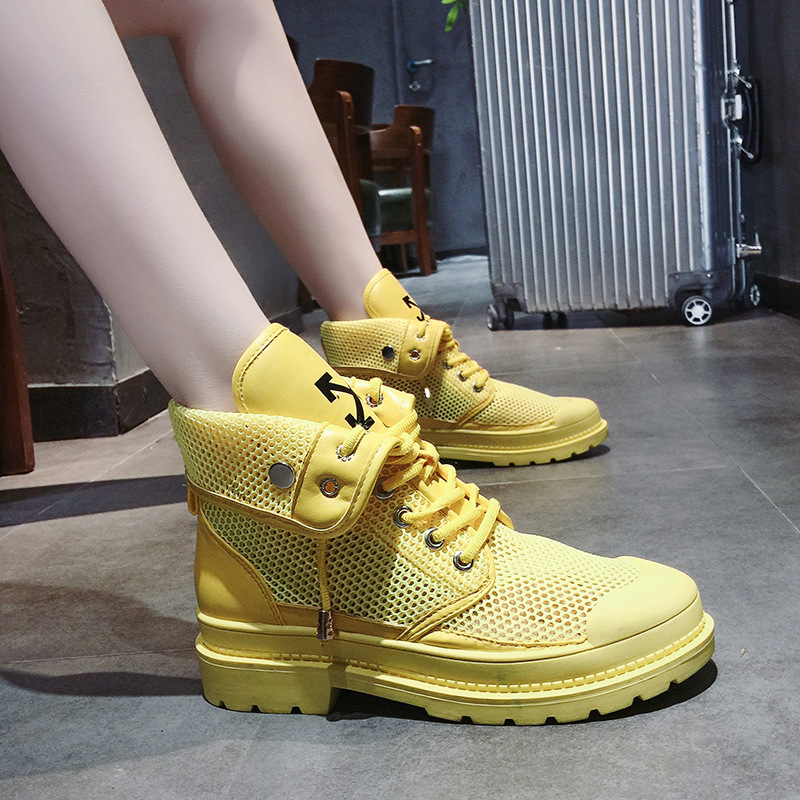 Womens boot 2019 new elevated motorcycle Martin boot womens summer aerated mesh hollowed-out boot shoes womens shoes fashionWomens boot 2019 new elevated motorcycle Martin boot womens summer aerated mesh hollowed-out boot shoes womens shoes fashion