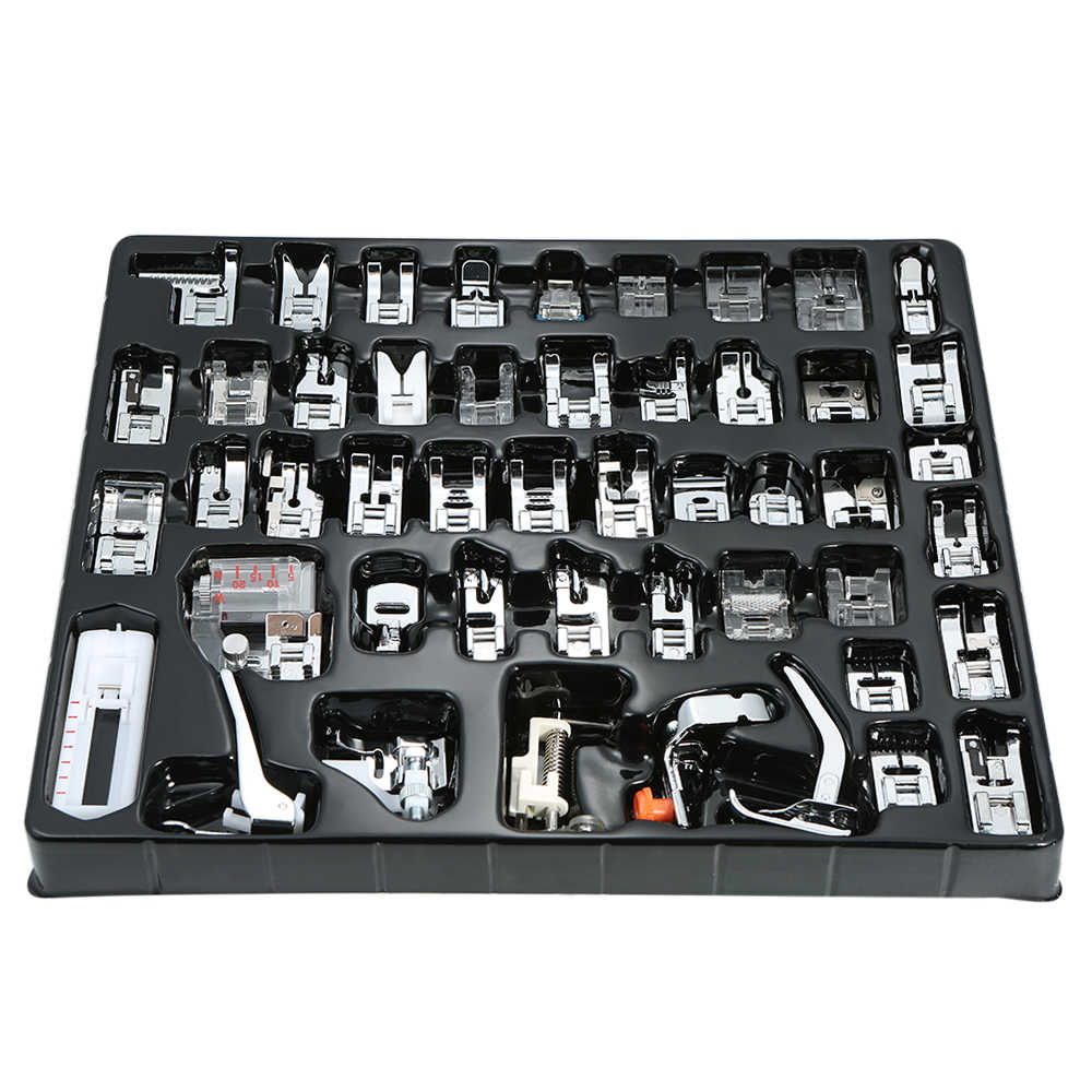 32pcs/42pcs/48pcs Household Sewing Machine Presser Foot Set Hem Foot Spare Parts Accessories for Brother Singer Janome