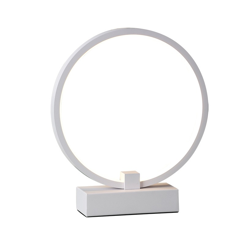 Modern Simple round circle LED Table Lamp For Bedroom Living Room Study Desk Table Lamps Minimalist Bedroom Bedside Lamp tuda 29x60cm 3w led table lamp european style iron desk lamp modern fashion simple living room study bedroom bedside lamp