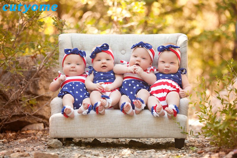 Cutyome Baby Girls Romper Fourth of July Clothing Outfit Infantil Sleeveless Pretty Jumpsuits For 4th of July Girl Star Overalls (25)