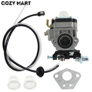 15mm Grass Trimmer Carburetor For 1E40F-5/1E44-5 430 42.7cc/49.3cc Brush Cutter Mowing Machine carb with Fuel Line Filter(China)
