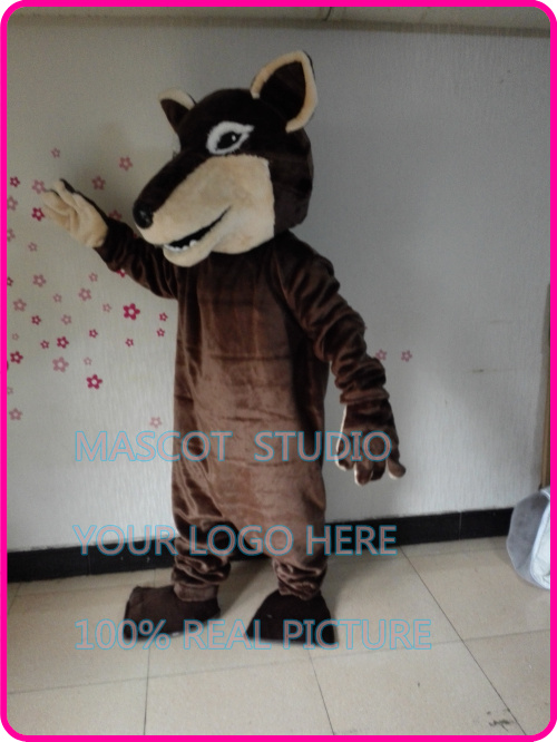 brown wolf mascot costume coyote werewolf custom cartoon character fancy costume anime cosplay mascotte theme fancy dress 41295