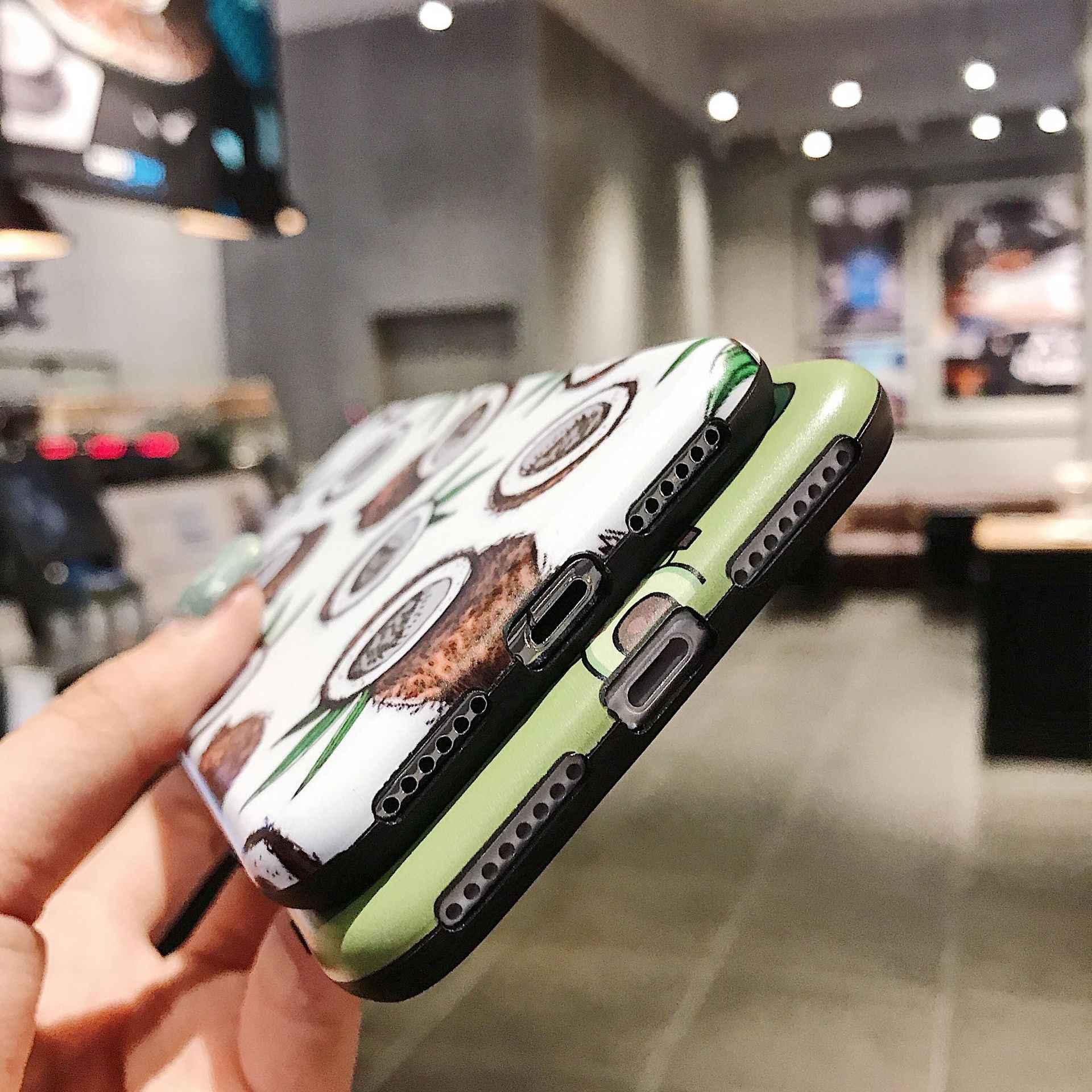LoliHippo קוקוס אבוקדו רך סיליקון טלפון Case כיסוי אחורי עבור iPhone X 7 8 6 6 S 6 S בתוספת קריקטורה כיסוי עבור iPhone XR XS מקסימום