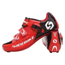 Sidebike profesjonalna jakość kolarstwo buty rowerowe antypoślizgowe zużycie odkryty lekkoatletyczny buty rowerowe wygodna blokada do roweru szosowego