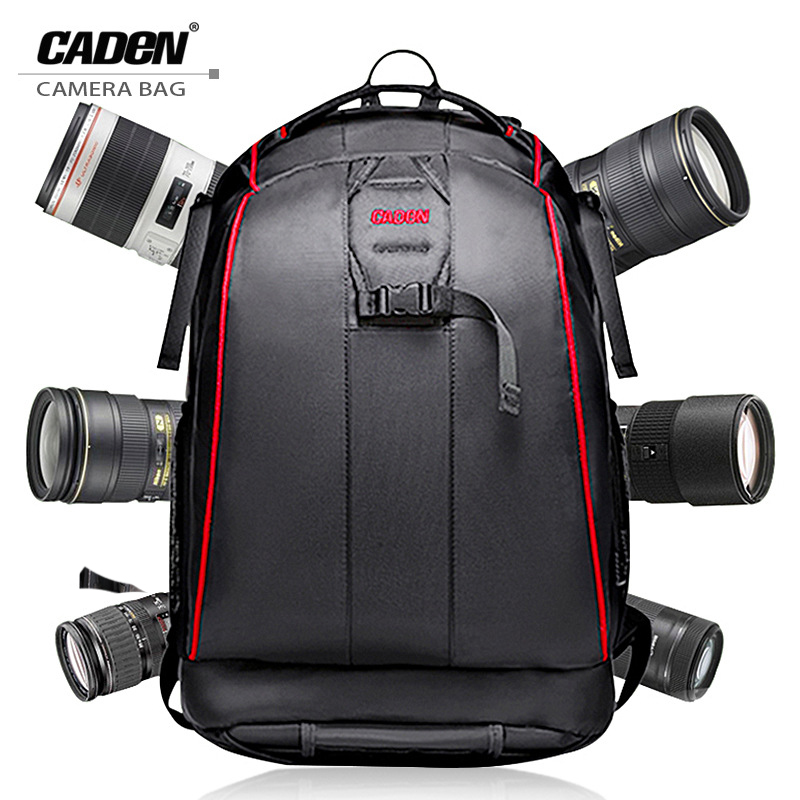 CADeN Professional Travel Waterproof Fashion Camera Backpack Photo tas Digital Camera Bag Case for Dslr Sony Canon Nikon K6K7-in Camera/Video Bags from Consumer Electronics    1