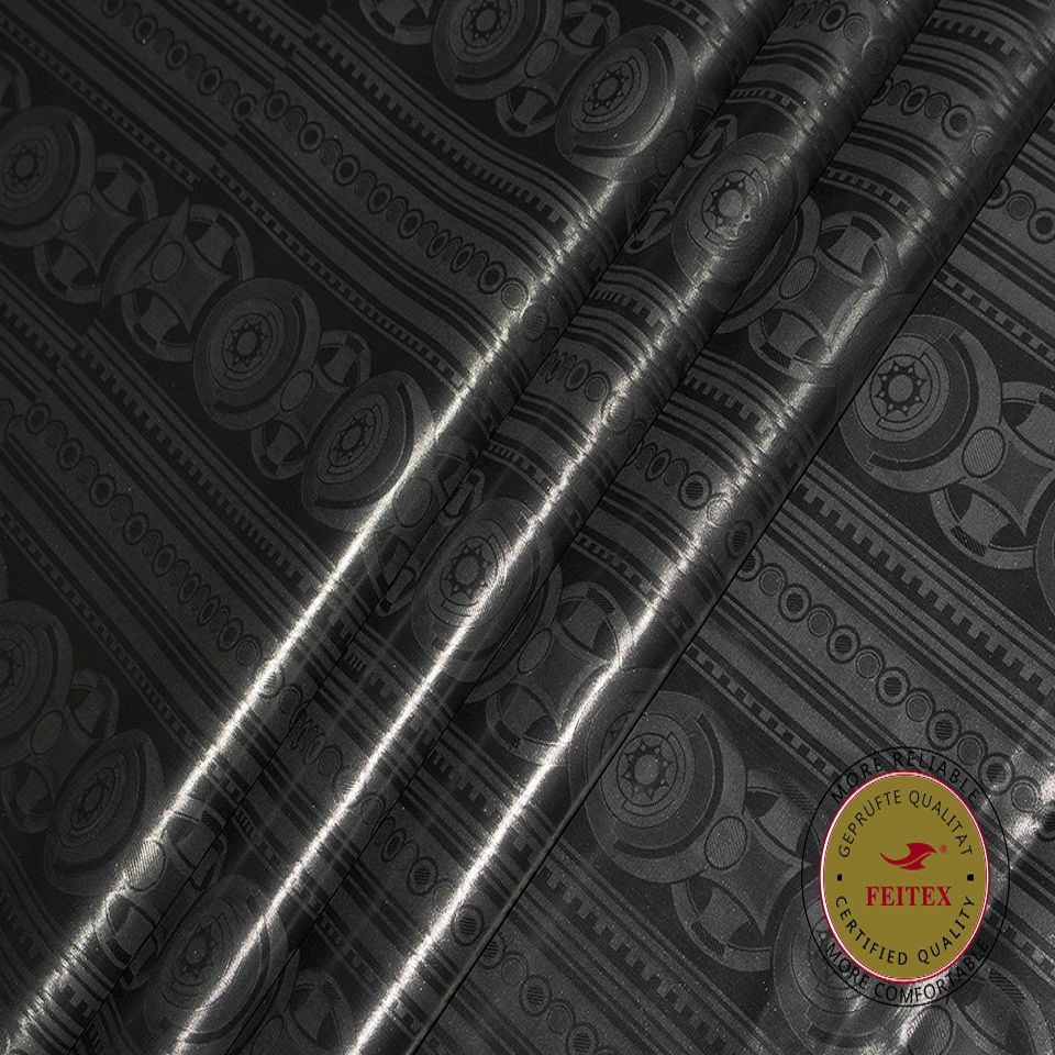 Feitex Best Jacquard 10Yards Fabric African Black Fabric 2019 High Quality Cotton Fabric Bazin Super Riche