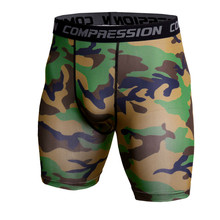 все цены на Mens Running Shorts Camouflage Bermuda Shorts Men Compression Shorts Fitness Tights Bodybuilding Short Leggings Gym Sportswear