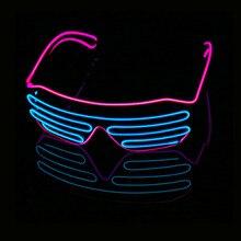 Светодиодный Очки Светильник Оттенки мигающий Rave Свадебная вечеринка очки светящиеся ночные шоу декоры деятельности Рождественские поставки