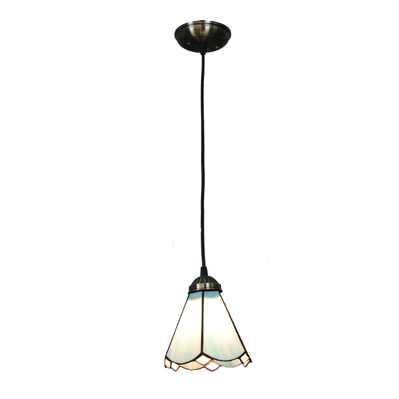 Modern Simple Tiffany Pendant Lamp Mediterranean Style Blue Glass Lampshade Hanging Light Restaurant Living Room Lighting PL768 tiffany mediterranean style peacock natural shell ceiling lights lustres night light led lamp floor bar home lighting