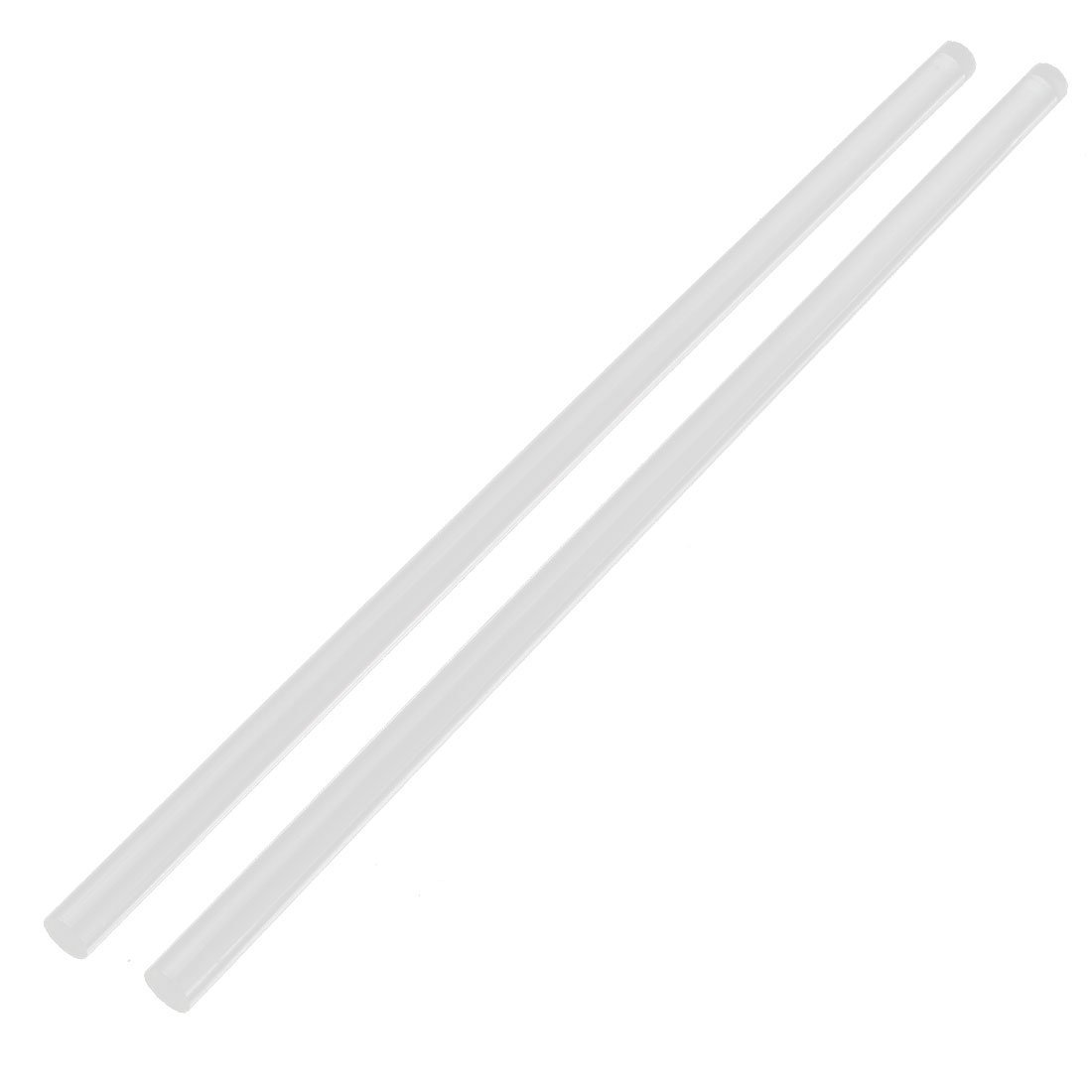 2Pcs 10mm Clear Round Perspex Acrylic Bar PMMA Extruded Rod 12