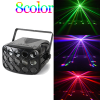 DMX led disco beam light 90 240V butterfly party lights professional beam stage lighting holiday colorful laser projector