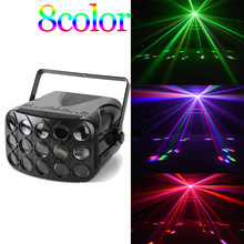 DMX led disco beam light 90-240V butterfly party lights professional beam stage lighting holiday colorful laser projector(China)