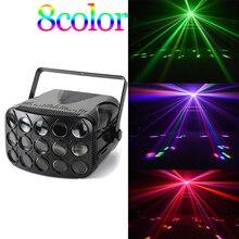 DMX led disco strahl licht 90 240V schmetterling party lichter professionelle strahl bühne beleuchtung urlaub bunte laser projektor